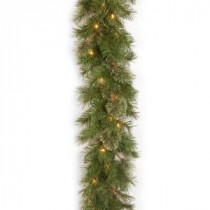 Atlanta Spruce 9 ft. Garland with Clear Lights-AT7-300-9A-1 300330629