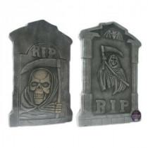 Brite Star 21 in. Spooky Tombstone Sculptures (Set of 2)-97-419-00 203040680