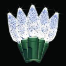 Brite Star 35-Light LED White Battery-Operated C6 Light Set-41-621-00 203040660