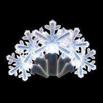 Brite Star 35-Light LED White Snowflake Shaped Light Set-39-591-00 203613829