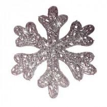 Brite Star Battery Operated 25-Light LED Spun Glitter Silver Snowflake-48-239-00 203538942