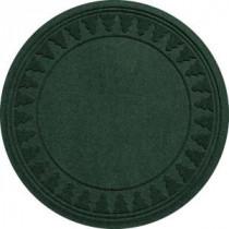 Bungalow Flooring Aqua Shield Evergreen 35 in. Round Pine Trees Under the Tree Mat-20293593535 206317256