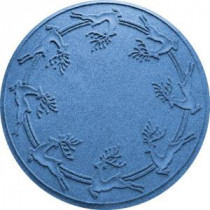 Bungalow Flooring Aqua Shield Medium Blue 35 in. Round Reindeer Run Under the Tree Mat-20648563535 206317273