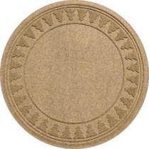 Bungalow Flooring Aqua Shield Medium Brown 35 in. Round Pine Trees Under the Tree Mat-20293513535 206317249