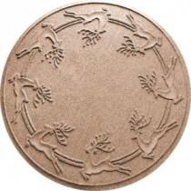 Bungalow Flooring Aqua Shield Medium Brown 35 in. Round Reindeer Run Under the Tree Mat-20648513535 206317267