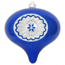 Christmas by Krebs 200 mm Azure Blue Shatterproof Reflector Onion (Pack of 6)-CBK40454 206432249