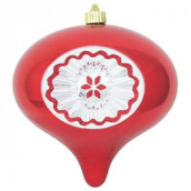 Christmas by Krebs 200 mm Sonic Red Shatterproof Reflector Onion (Pack of 6)-CBK40451 206461271