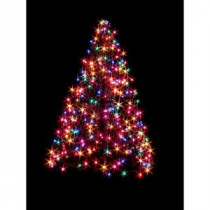 Crab Pot Trees 4 ft. Indoor/Outdoor Pre-Lit Incandescent Artificial Christmas Tree with Green Frame and 300 Multi-Color Lights-G4M 205421117
