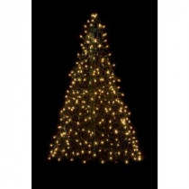 Crab Pot Trees 5 ft. Indoor/Outdoor Pre-Lit Incandescent Artificial Christmas Tree with Green Frame and 350 Clear Lights-5GC 205471509