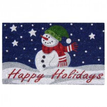 Creative Accents Happy Holidays 18 in. x 30 in. SuperScraper Vinyl/Coir Door Mat-33016 204799280