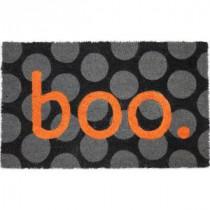 Entryways Boo 17 in. x 28 in. Non-Slip Coir Door Mat-P2037 205850035