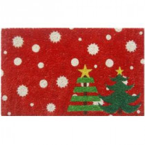 Entryways Christmas Trees 17 in. x 28 in. Non-Slip Coir Door Mat-P2040 205850038