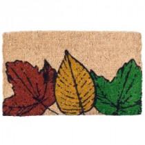 Entryways Fallen Leaves 18 in. x 30 in. Coir Door Mat-2082S 207050729