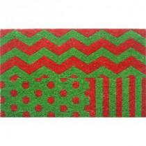Entryways Wrapping Paper 18 in. x 30 in. Hand Woven Coconut Fiber Door Mat-2044S 205850056