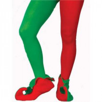 Forum Novelties Adult Plus Size Red and Green Elf Tights-7546 205737053