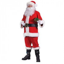 Fun World Plus Size Flannel Santa Suit for Adults-7510FW 205737028