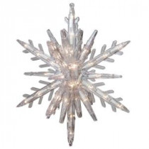 GE 10.75 in. 108-Light 3D Hanging Star with Clear Random Sparkle Lights (3-Piece)-79556HD 206768298