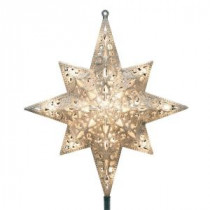 GE Holiday Classics 11 in. 16-Light Silver Glittered Bethlehem Star Tree Top-71080HD 206951267