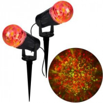 Gemmy 10.24 in. Projection Kaleidoscope LED RRY Light Stake (2-Pack)-73279 206852331