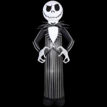 Gemmy 33.47 n. W x 30.32 in. D x 83.86 in. H Inflatable Jack From Nightmare Before Christmas-56942 207107590