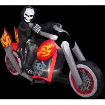 Gemmy 4.4 ft. Inflatable Reaper Motorcycle Scene-52766X 206355141