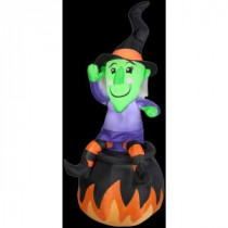 Gemmy 4.5 ft. Inflatable Witch on Cauldron-58365X 206355153