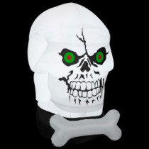 Gemmy 58.27 in. W x 39.37 in. D x 66.14 in. H Inflatable Gotham Skull-54768X 205469591