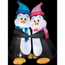 Gemmy 6 ft. Inflatable Animated Shivering Penguins-36031X 206355126