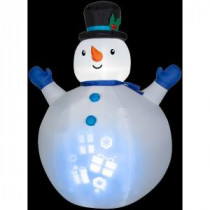 Gemmy 7 ft. H Inflatable Panoramic Projection Snowman-36498X 206403200