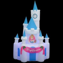 Gemmy 8 ft. H Projection Kaleidoscope Inflatable Cinderella's Castle-37563 205919799