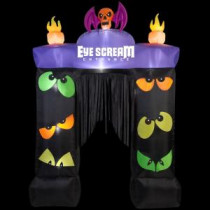 Gemmy 80.71 in. W x 23.62 in. D x 114.17 in. H Inflatable Archway Eye Scream with Blinking Eyes-70530 207107598