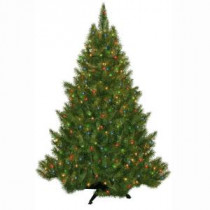 General Foam 4.5 ft. Pre-Lit Carolina Fir Artificial Christmas Tree with Multi-color Lights-HD-21645M3 203321118