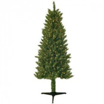 General Foam 6 ft. Pre-Lit Slender Spruce Artificial Christmas Tree with Clear Lights-HD-LP60C3 203321211