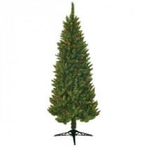 General Foam 7 ft. Pre Lit Slender Spruce Artificial Christmas Tree with Multi-Colored Lights-HD-LPM7000 203321283