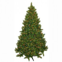 General Foam 7.5 ft. Pre-Lit Carolina Fir Artificial Christmas Tree with Multi-Colored Lights-HD-21675M7 203321309