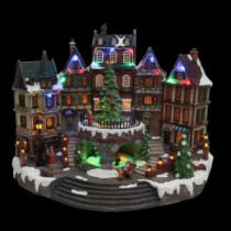 Home Accents Holiday 12.5 in. Animated Holiday Downtown-NM-X11646FA 206963282