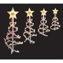 Home Accents Holiday 18 in. Multi-Color Spiral Tree Pathway Lights (Set of 4)-TY084-1118-1M 202532747