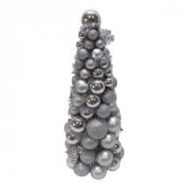 Home Accents Holiday 18 in. Silver Shatterproof Christmas Ornament Core Tree-HD20160150B 206950162