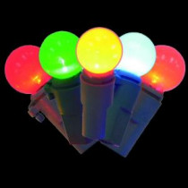 Home Accents Holiday 20-Light Multi-Color Battery-Operated Smooth Sphere Ceramic Light Set-TY935-1515M 205927938