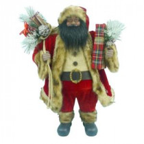 Home Accents Holiday 24 in. A/F Fabric Santa-A-154055AF 206954354