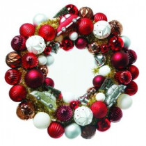 Home Accents Holiday 24 in. Winter Tidings Ornament Artificial Wreath-T1215-186 206944951