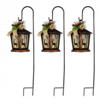 Home Accents Holiday 27 in. Christmas Reindeer Lantern Pathway Markers with Sheppard's Hook (Set of 3)-6201-27862HDD 207045221