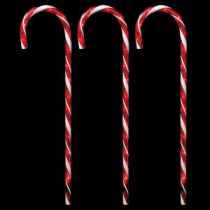 Home Accents Holiday 27 in. Lighted Candy Canes (Set of 3)-21258-56 206953698