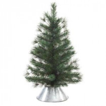 Home Accents Holiday 29 in. Unlit Artificial Pine Tree in Metal Bucket-2242450HD 205915580