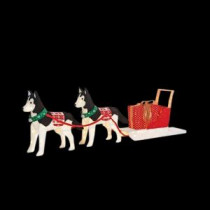 Home Accents Holiday 36 in. LED Lighted Fuzzy Dog and 46 in. LED Lighted Sled-TY156-1614-2 206963216