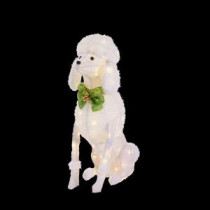 Home Accents Holiday 36 in. LED Lighted Sitting Poodle-TY758-1614-0 206963099