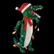 Home Accents Holiday 36 in. Pre-Lit Tinsel Alligator-TY049-1314 204062130