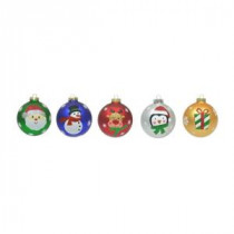 Home Accents Holiday 3.9 in. Christmas Tree Trim Ornament Set (4-Pack of 60)-88A5563W 205915296