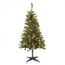 Home Accents Holiday 5 ft. Wood Trail Pine Artificial Christmas Tree with 200 Clear Lights-6050-370-200L 100686486