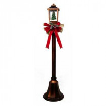 Home Accents Holiday 56 in. Christmas Lamppost with Snow Blowing Lantern-6207-56251 206954021